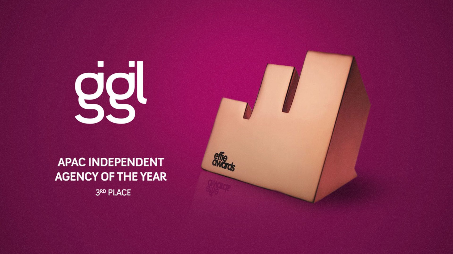 GIGIL issued as third most effective indie ad agency in the Asia-Pacific by APAC Effies 2020